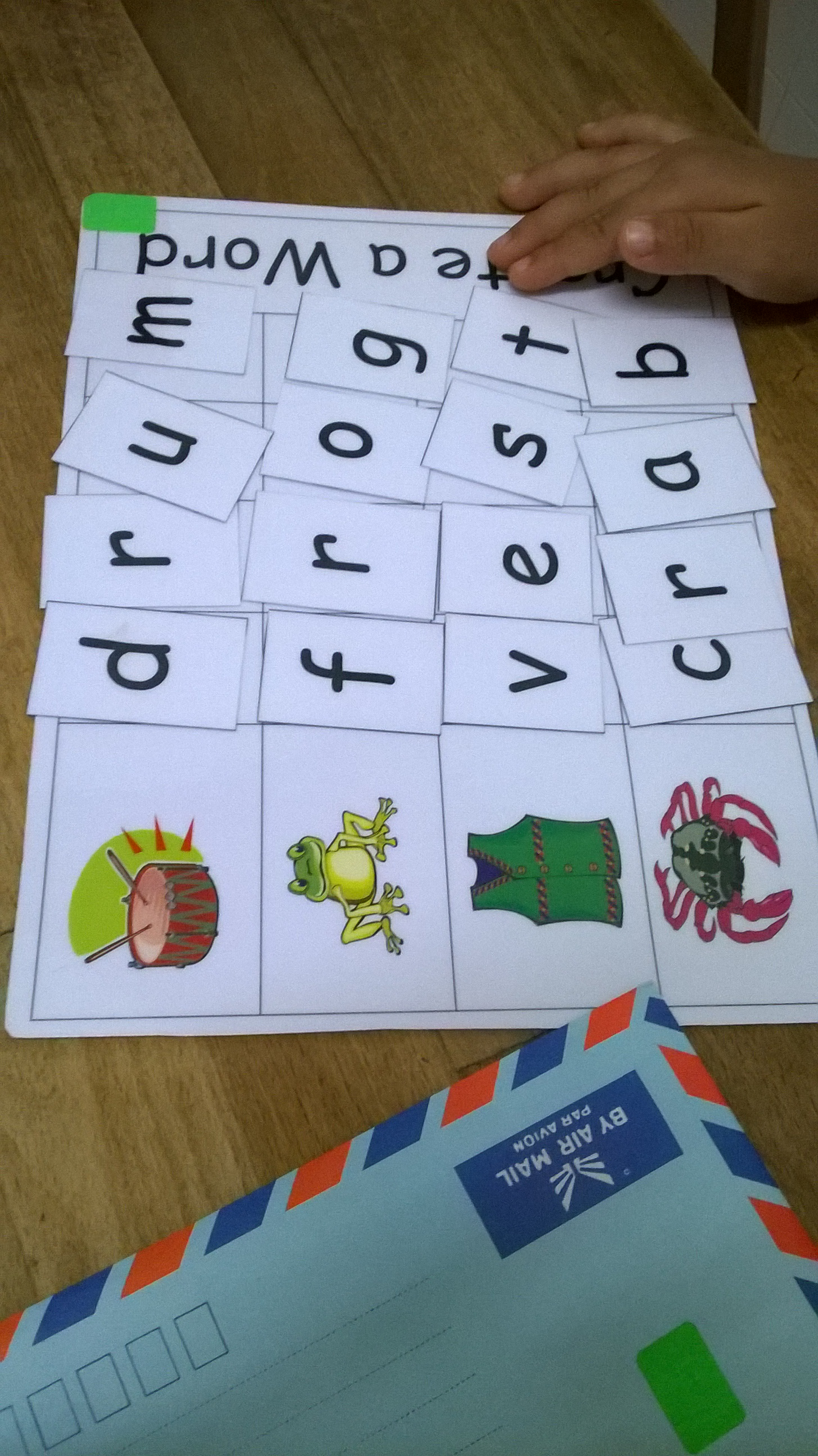 How we learn phonics at home